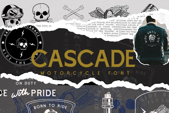 Cascade Free Motorcycle Font