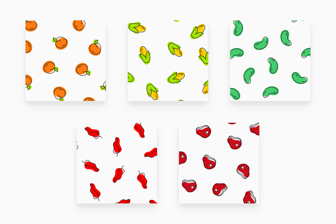 Free Foody Vector Patterns