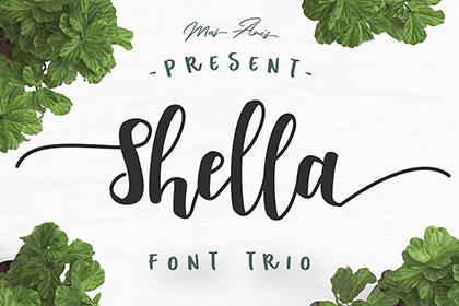 Shella Script Font Demo