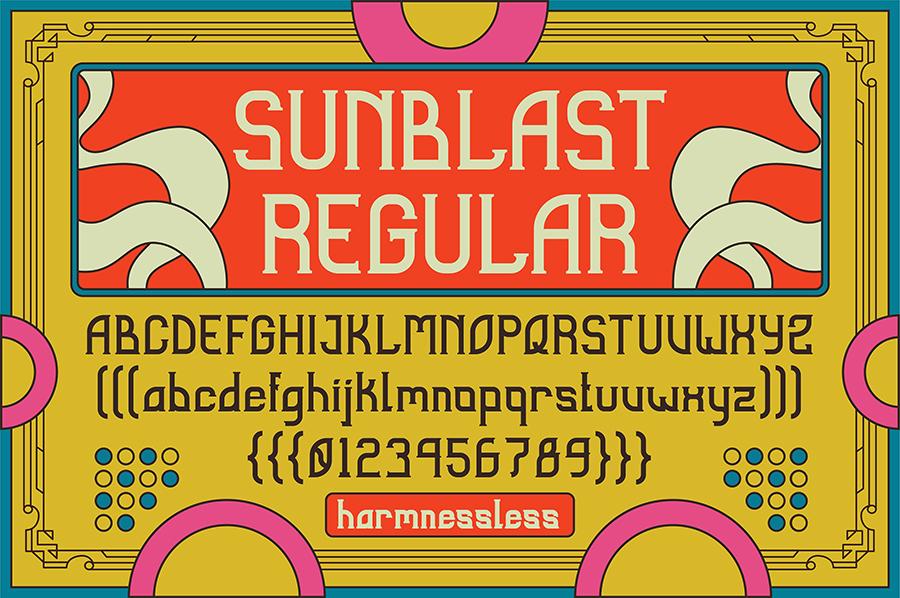 Sunblast Display Typeface Demo