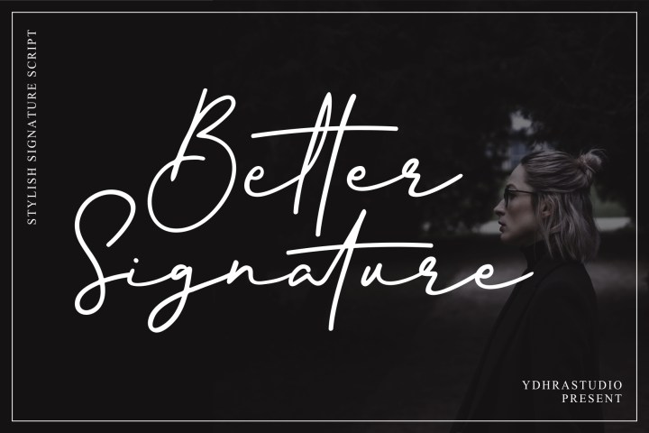 Better Signature Font Demo