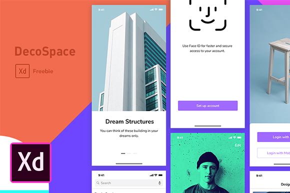 DecoSpace Free Mobile UI Kit