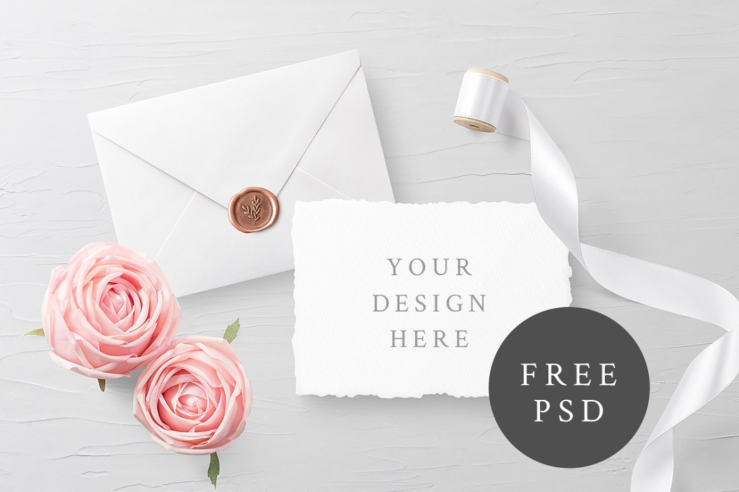 Customizable invitation card mockup free design resources customizable invitation card mockup stopboris Image collections