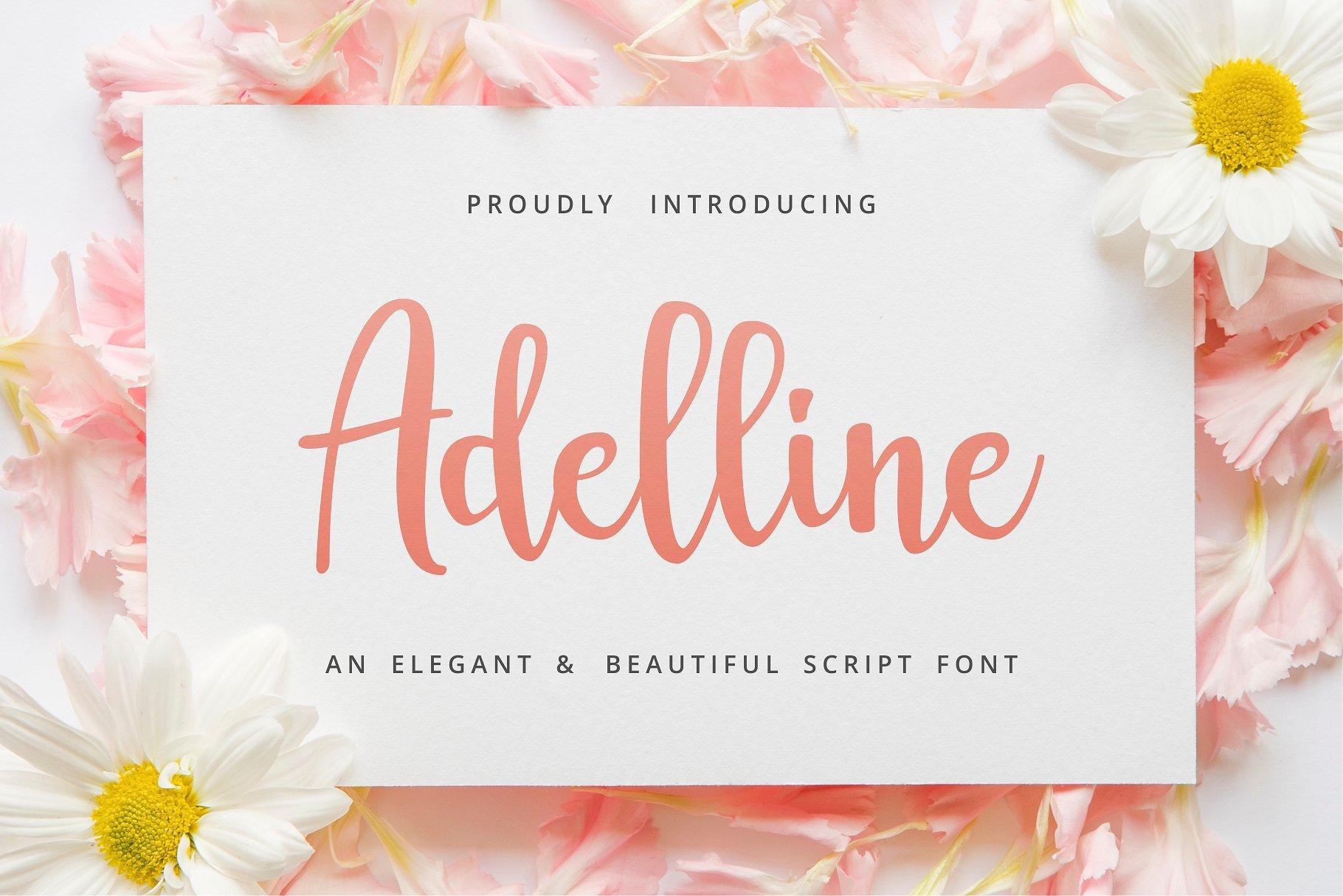 Adelline Elegant Script Demo