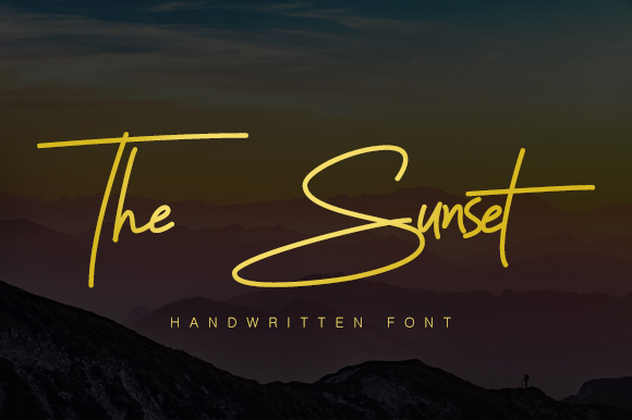 Sunset Signature Font Demo