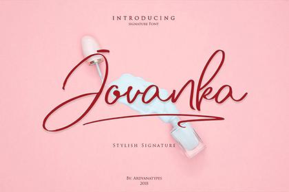 Jovanka Script Free Font Demo