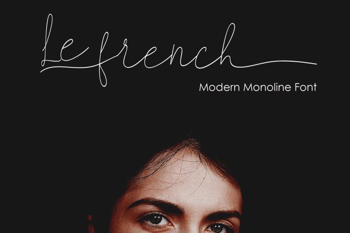 Le French Monoline Font