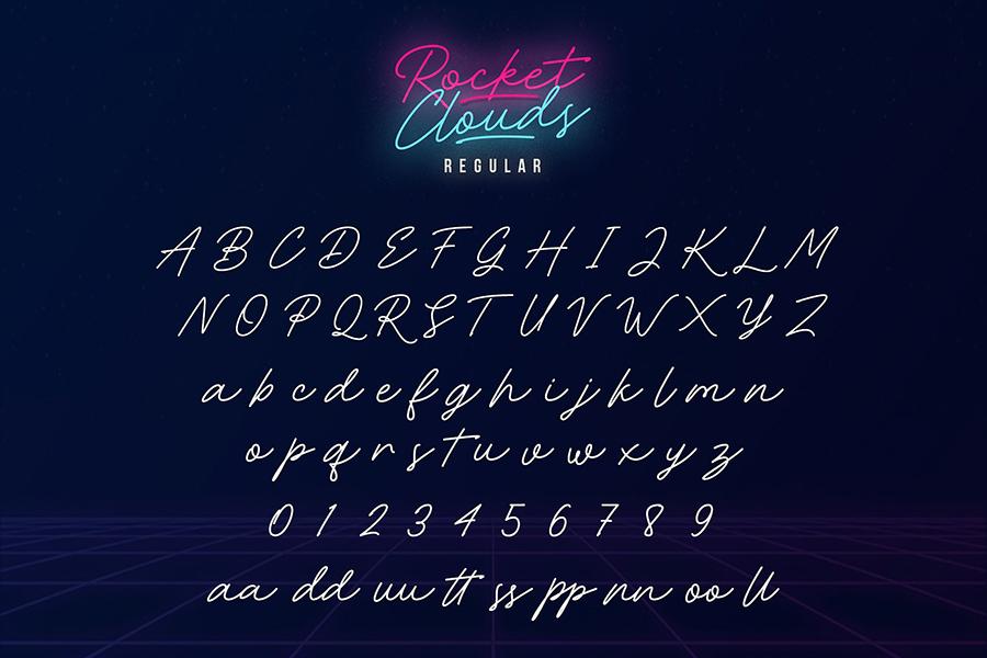 Rocket Clouds Free Font Demo
