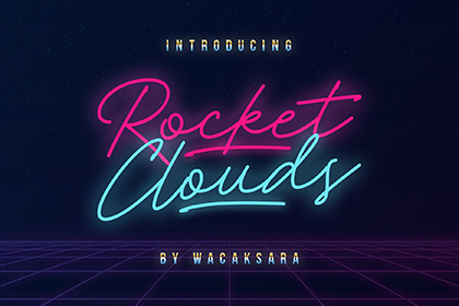 Rocket Clouds Free Font Demo