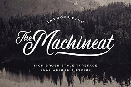 Machineat Script Font Demo
