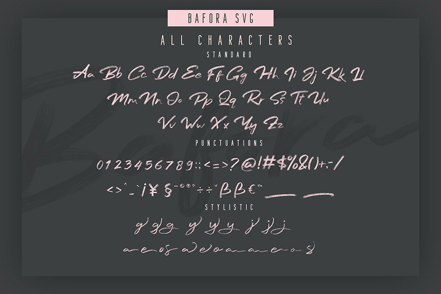 Bafora Brush SVG Font Demo