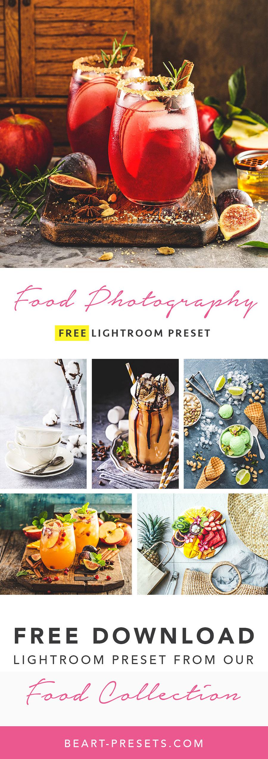 Food Free Lightroom Presets