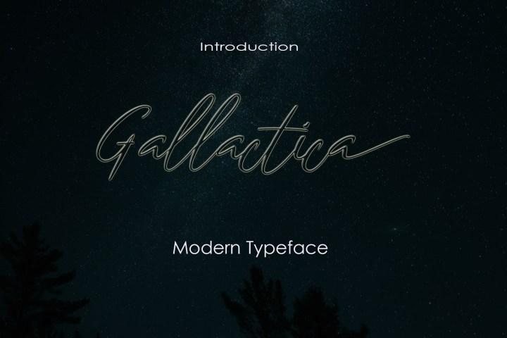 Gallactica Script Font Demo