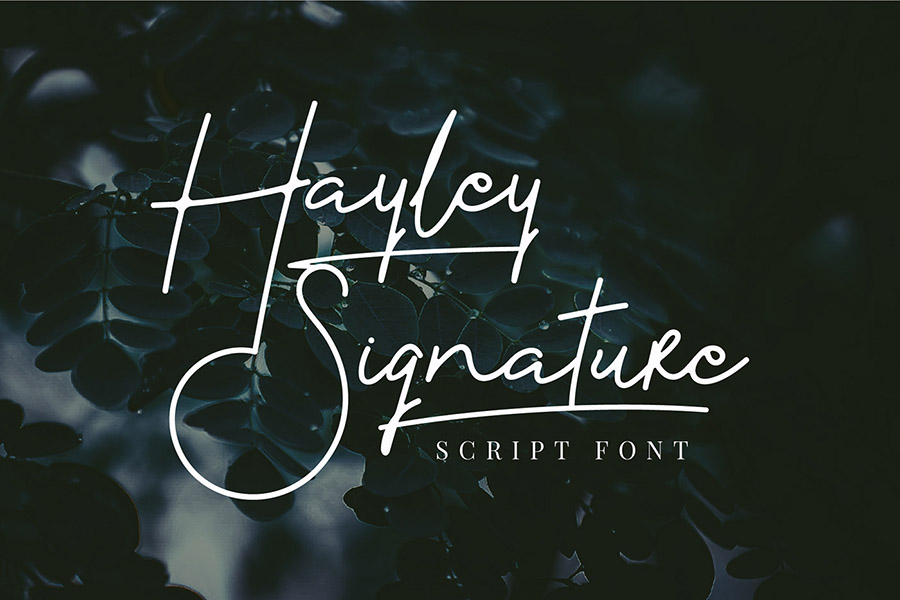 Hayley Signature Sript Font Demo