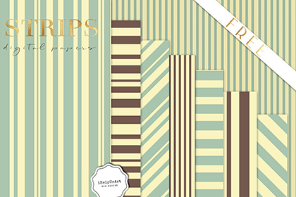 Free 8 Retro Stripes Pattern Pack