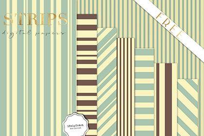 Free 8 Retro Stripes Pattern Pack