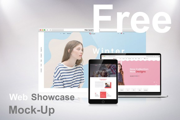 Free Web Showcase Mockup