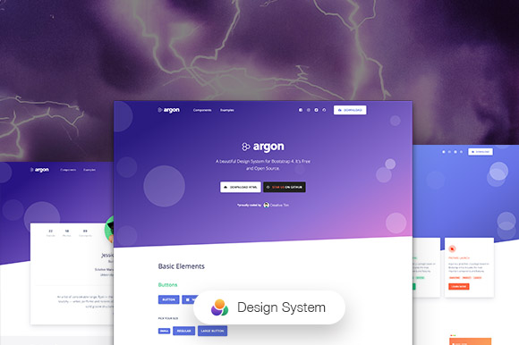 Argon Design System PSD Template