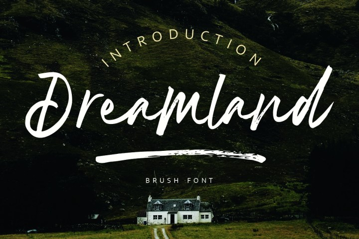 Dreamland Brush Font Demo