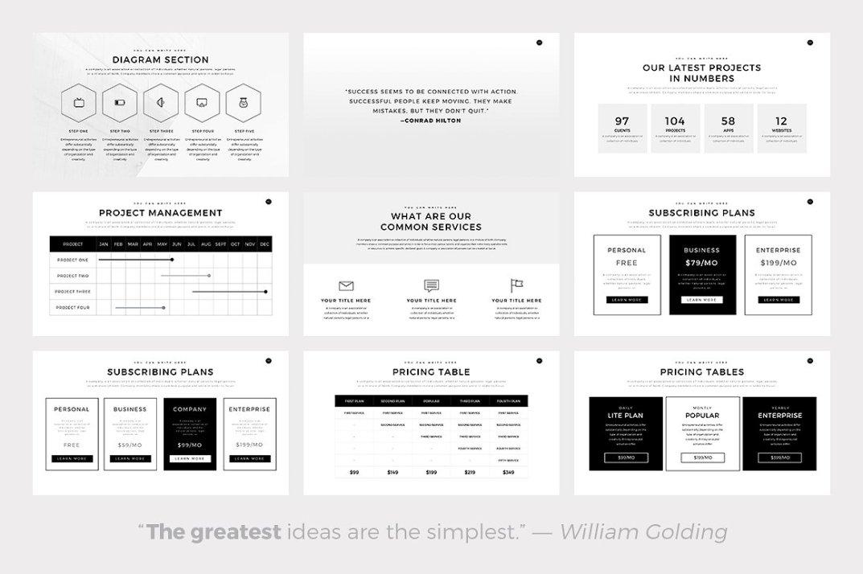 neue free minimal presentation template free design resources