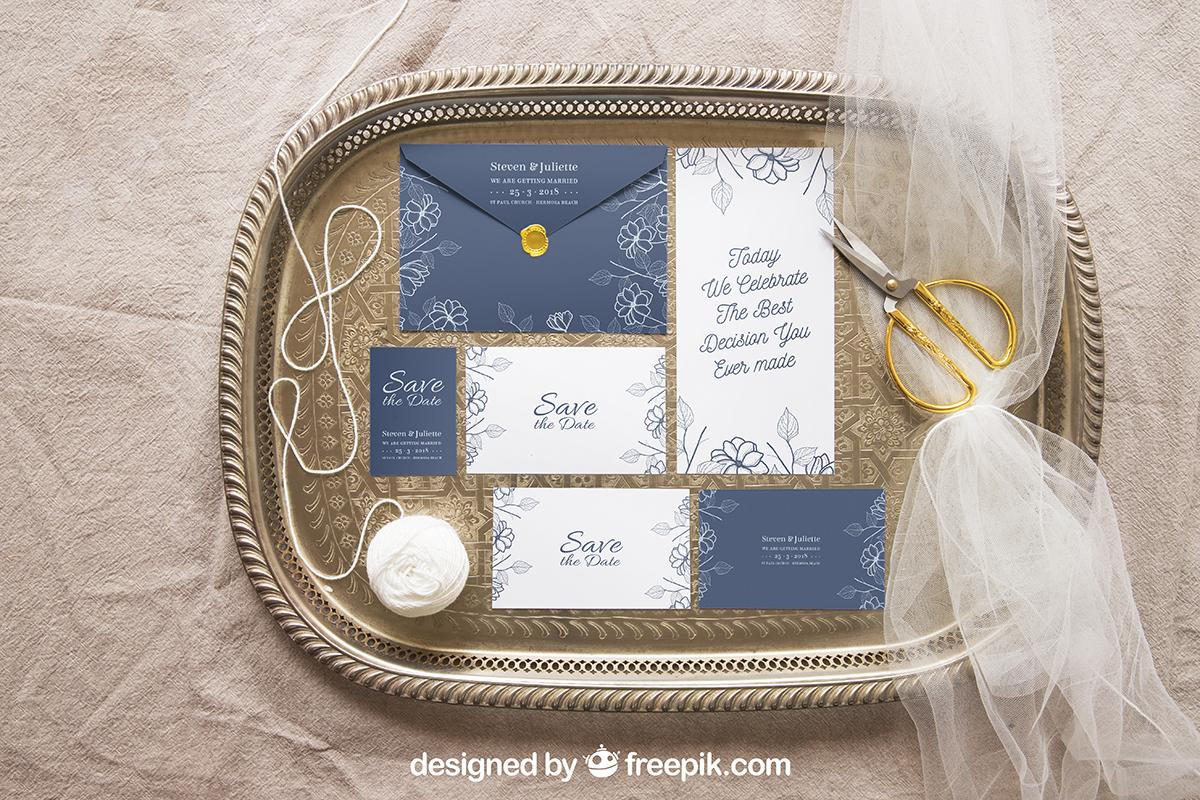 Wedding Stationery Mockups