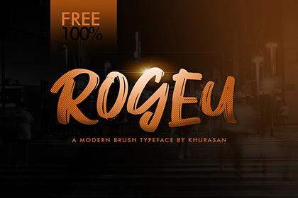 Rogeu Free Brush Font