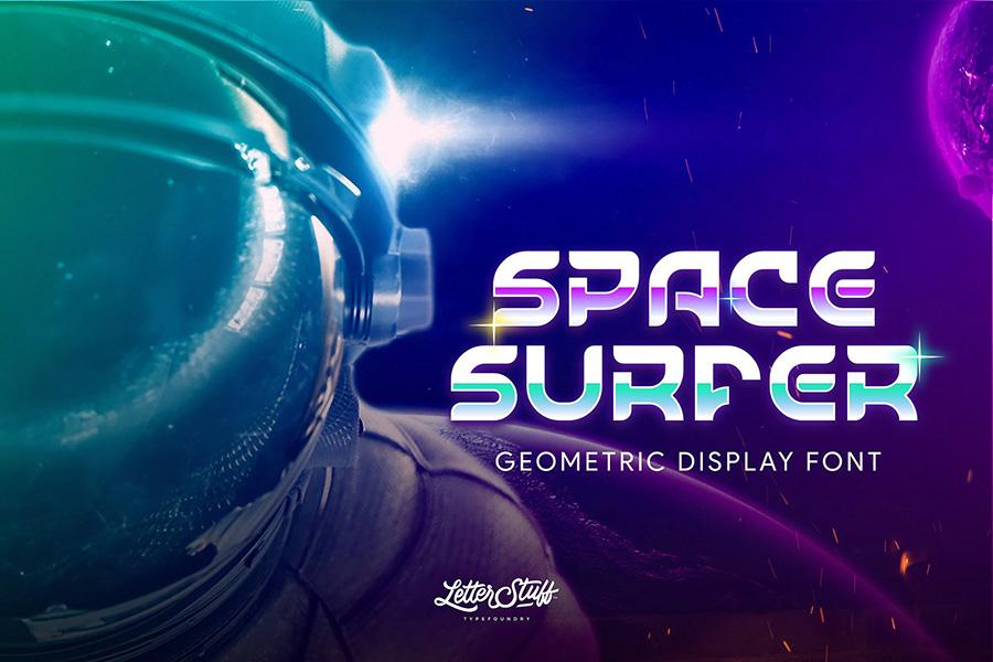SpaceSurfer Display Font Demo