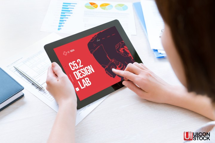 Modern Digital Tablet Mockup