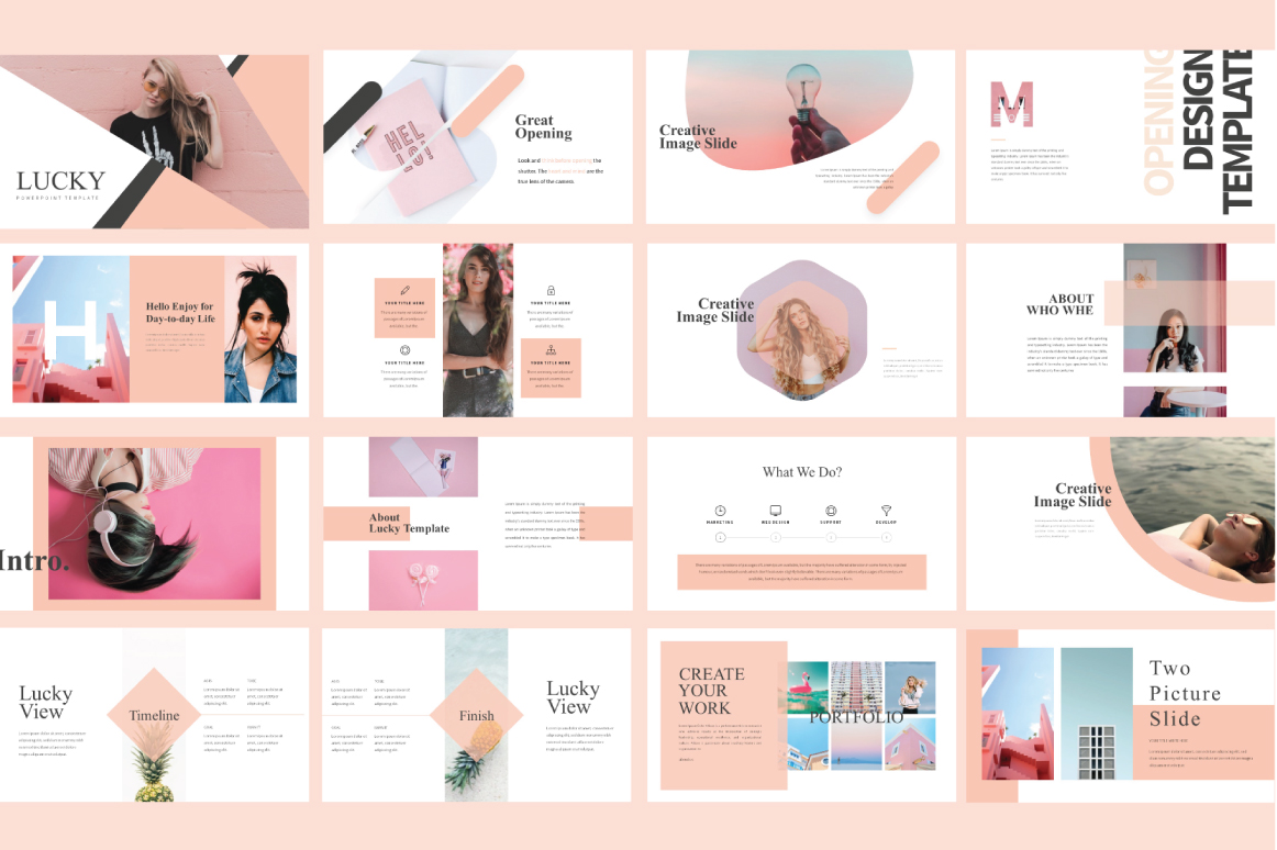 LUCKY Free Presentation Template