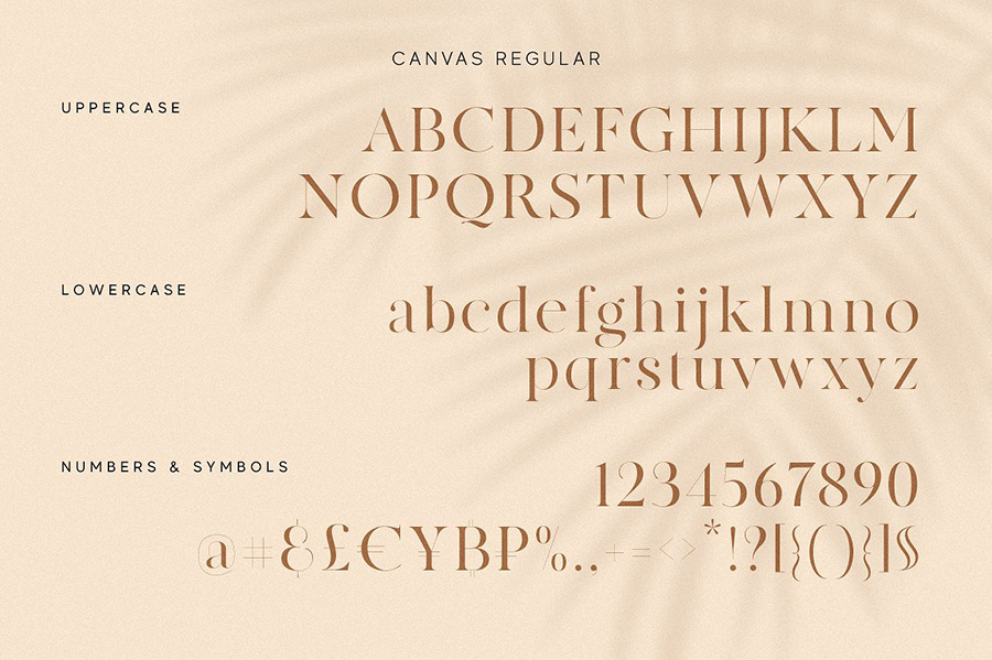 MADE Canvas Font Family Demo