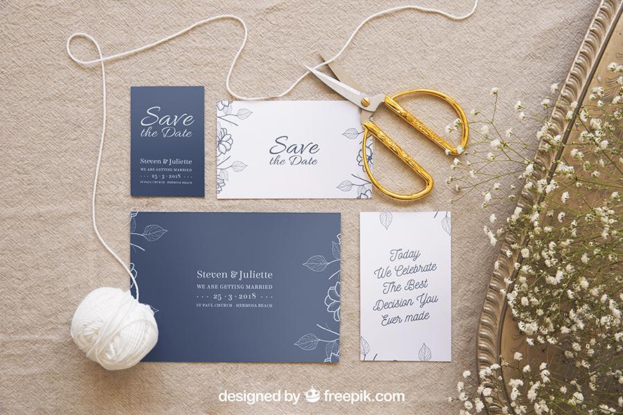 Wedding Stationery Mockup Set 3