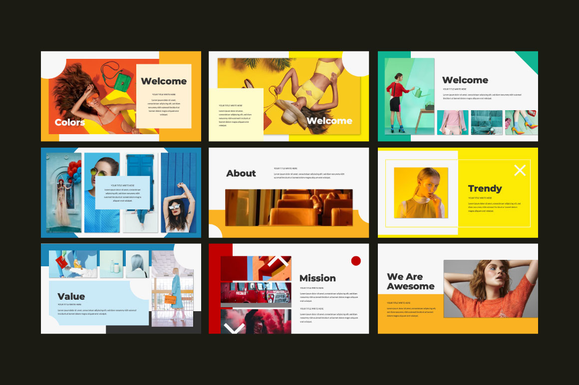 Colors Free Powerpoint Template Free Design Resources
