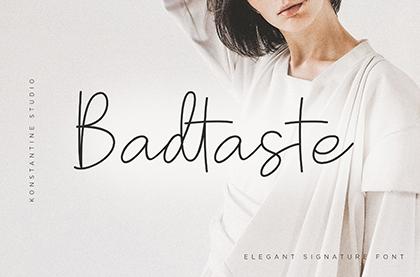 Badtaste Handwriting Font Demo