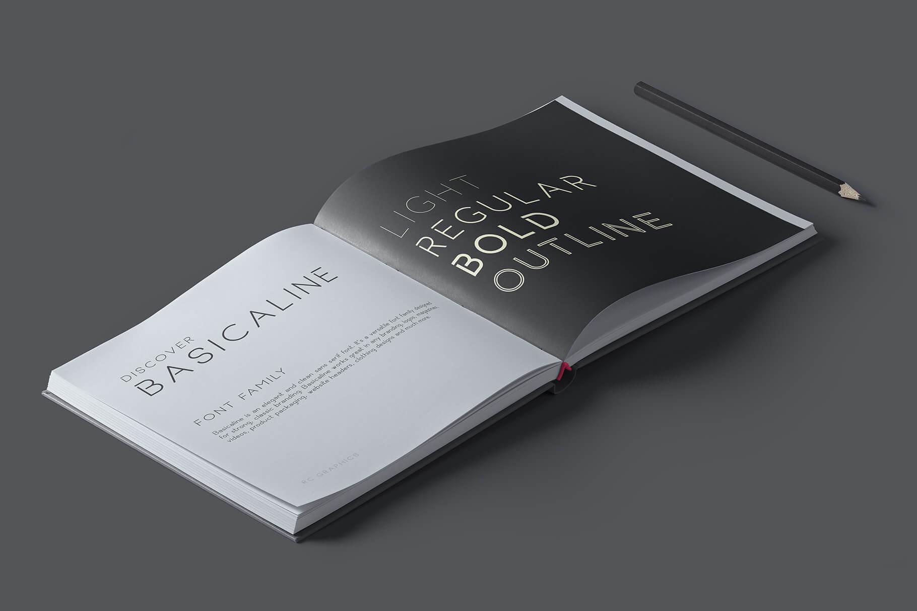 Basicaline Free Font Demo