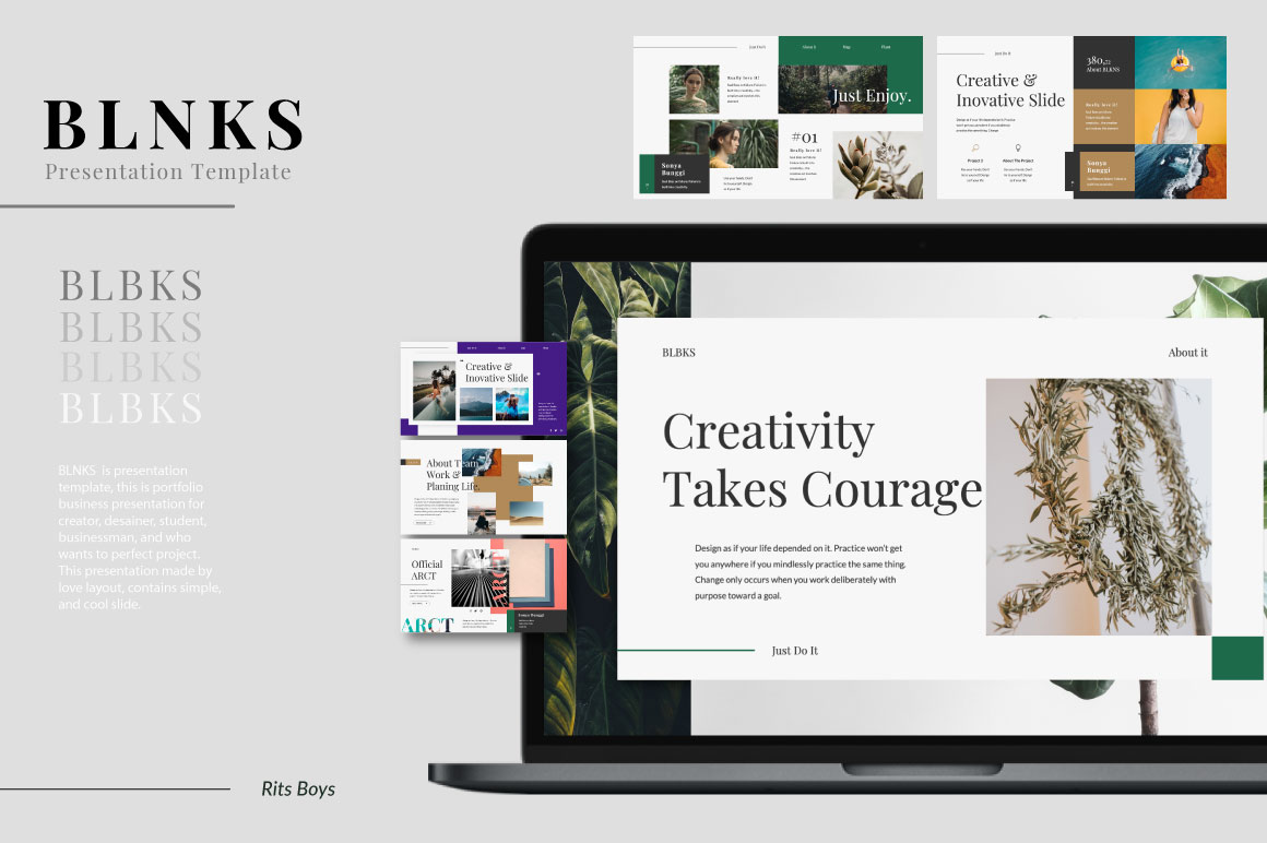 BLNKS Free Presentation Template