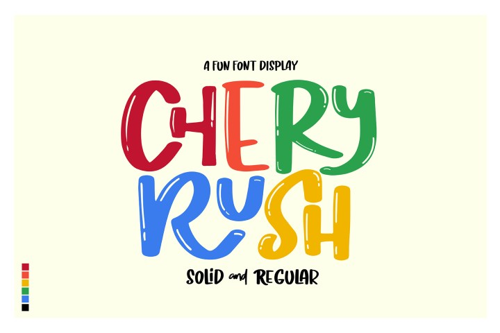 Chery Rush Fun Display Font