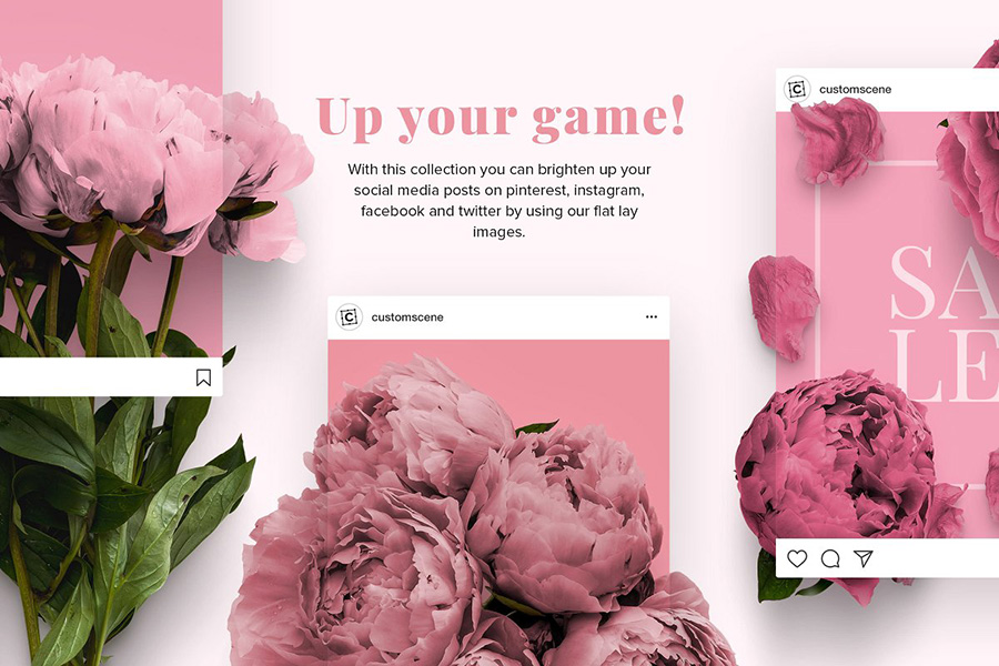 Free Floral Peonies Collection