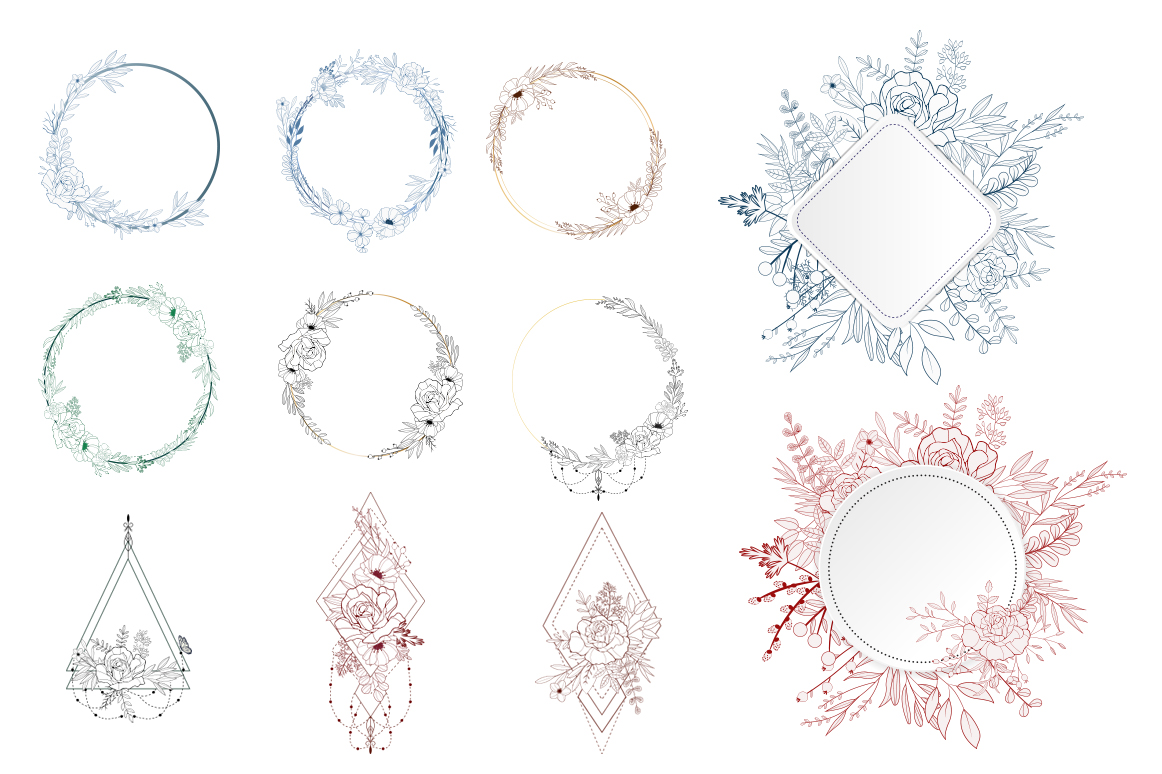 Hand-drawn Floral Vector Collection