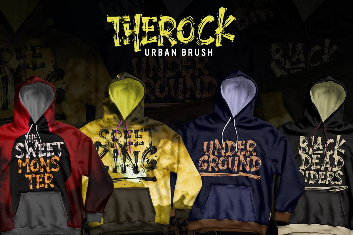 The Rock Display Brush Font