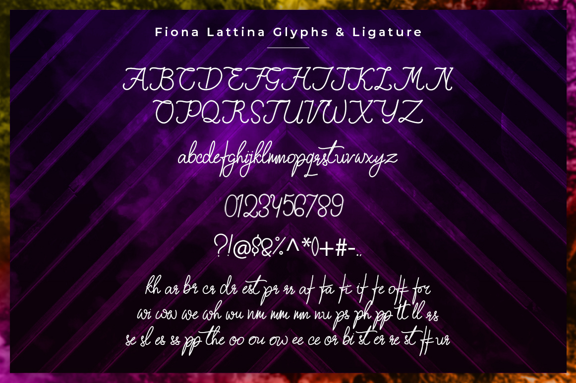 Fiona Lattina Handwritten Font