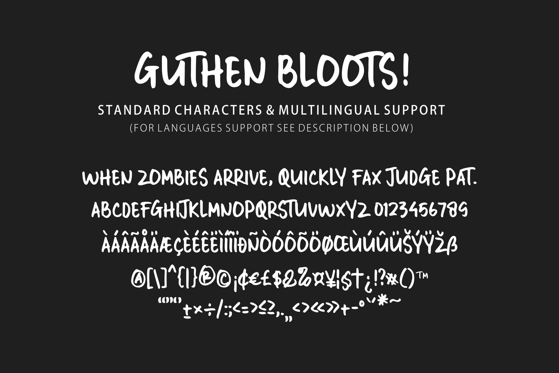 Guthen Bloods Font Demo