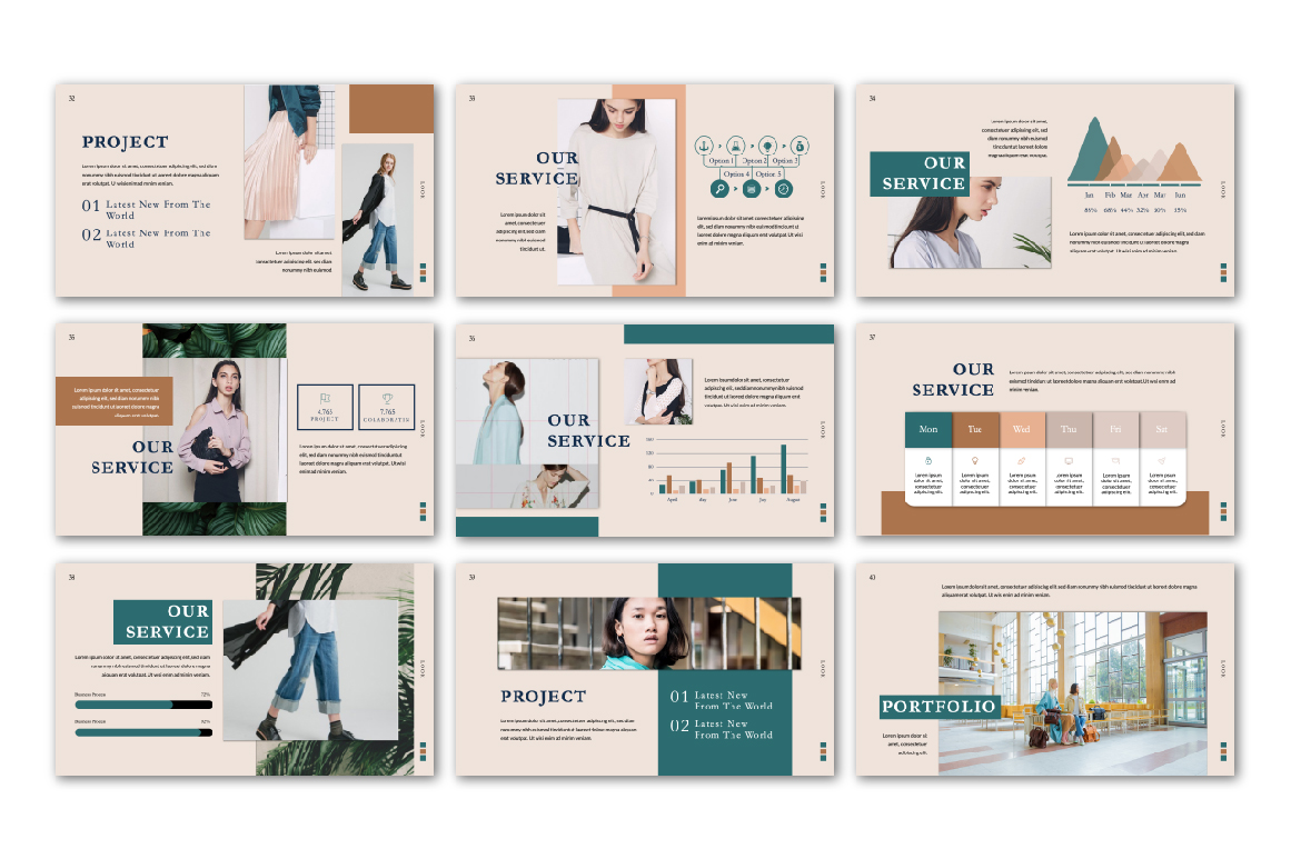 Look PowerPoint Presentation Template