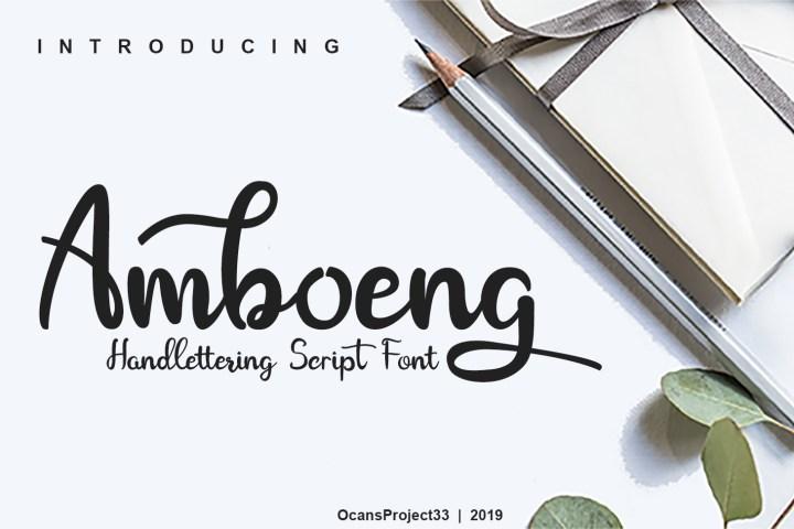 Amboeng Free Script Font