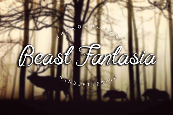 Beast Fantasia Script Font