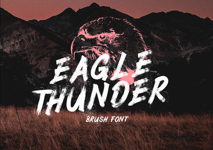 Eagle Thunder Brush Font
