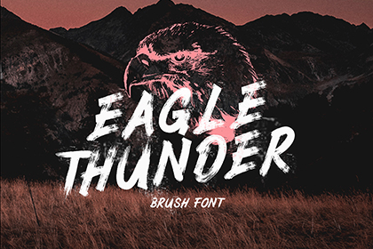Eagle Thunder Brush Font