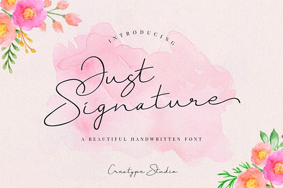 Just Signature Script Demo