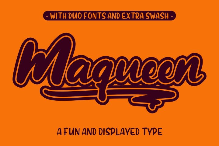 Maqueen Free Font Duo