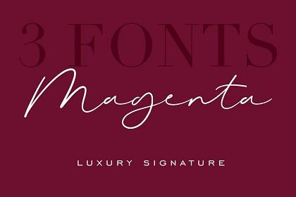 Magenta Script Font Demo