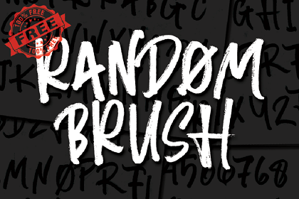 Random Brush Free Font